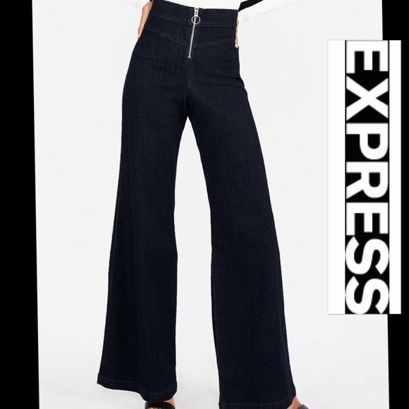 695cae7eb2 Express Jeans | Nwt Wide Leg Super High Rise Stretch | Poshmark